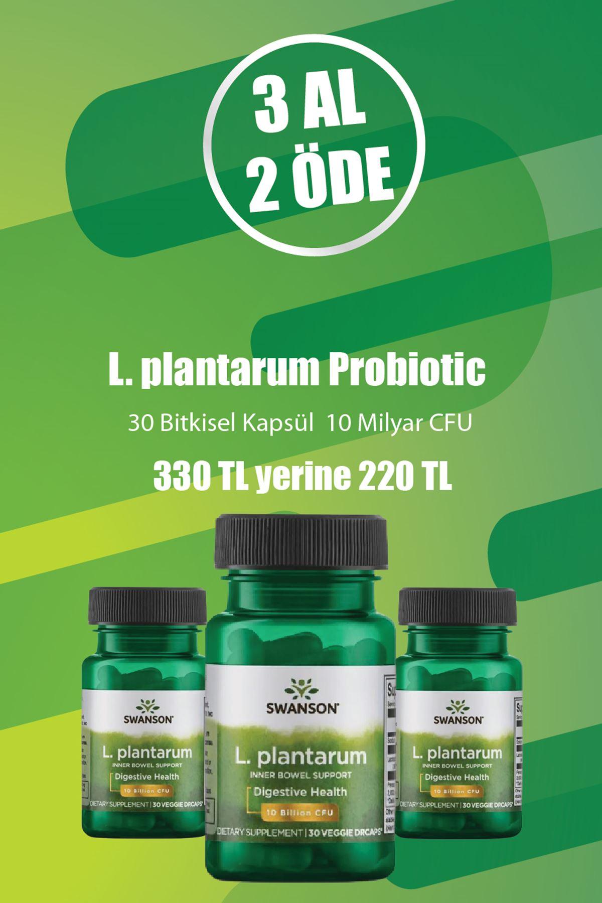 3 adet  L. plantarum Probiotic - Kampanya